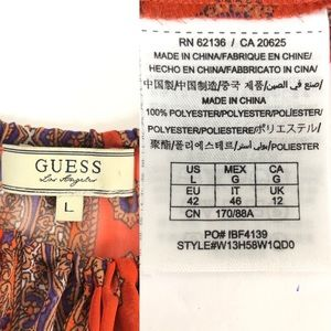 Guess Tops - GUESS | Sheer Peasant Boho Sexy Flowy Blouse L